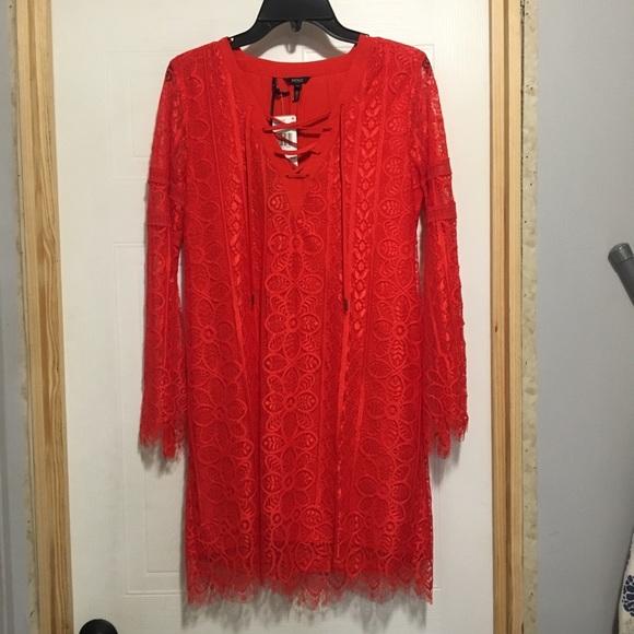 Buffalo David Bitton Dresses & Skirts - NWT Buffalo David Bitton Lace-A-Lot Route Dress